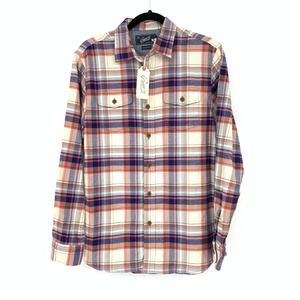 Grayers Casual Flannel Shirt Button Front Plaid